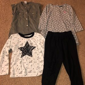 🦋Toddler 4PC Clothes Bundle Girl Mixed Lot 3T🦋